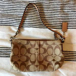 NWOT Canvas Coach Wristlet